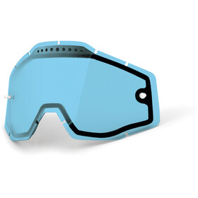 100% Vented Dual Replacement Lenses, blue / clear